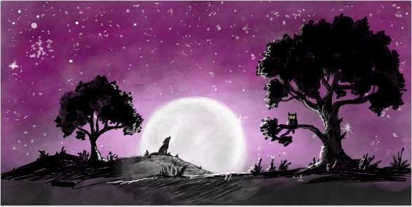Ночь, луна...
