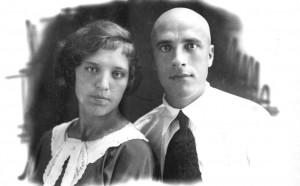 Соня с мужем Владимиром, 1937 год.