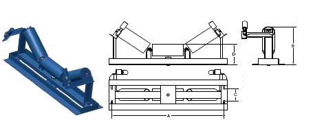 роликоопора верхняя желобчатая центрирующая