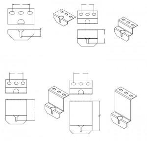 Элементы монтажа центрирующих роликоопор
