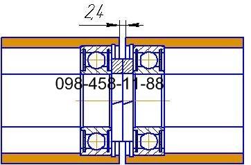 Ролики для рольганга диаметром 48 мм.