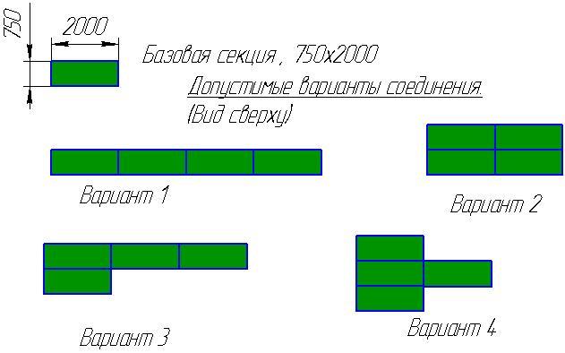 Базовая секция рольганга с полимерными конвейерными роликами