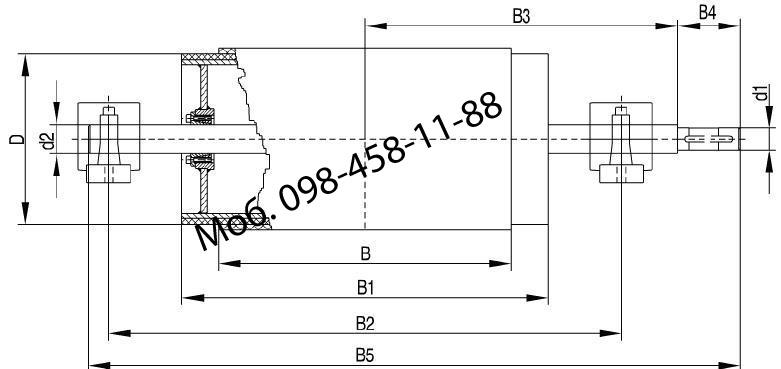 Рекомендуемые параметры барабана приводного D=219 мм