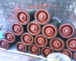 Конвейерные ролики футерованные резиновыми кольцами