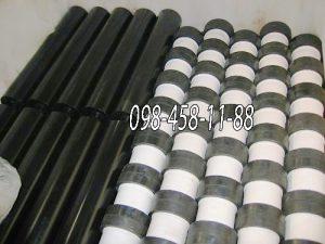 Футерованные конвейерные ролики: резина + полимер