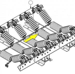 Конструкция роликоопоры для футерованных роликов