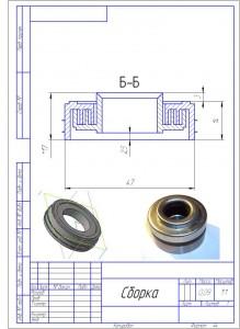 Лабиринтное уплотнение конвейерного ролика