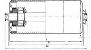 Конвейерные ролики разборные D=108 мм