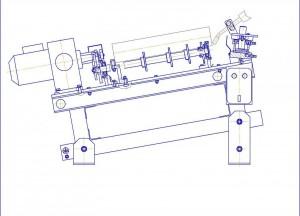 Полуавтоматическая установка для приварки  корпуса подшипника к обечайке ролика конвейерного.