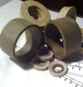 Полимерные кольца для футеровки конвейерных роликов